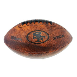 Wilson San Francisco 49ers 11-inch Brown Leather Football