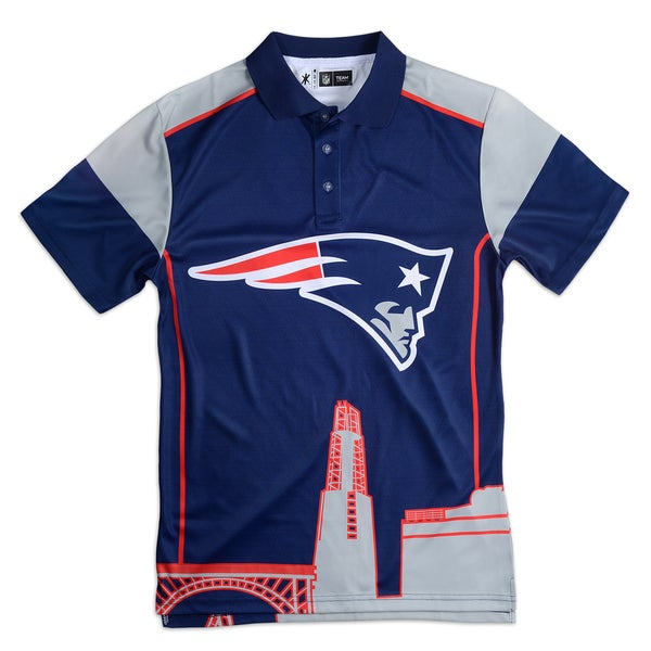 New England Patriots NFL Polyester Thematic Polo Shirt