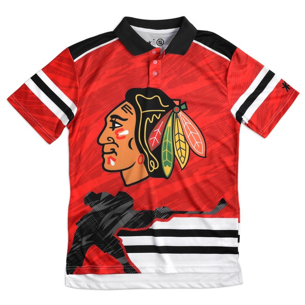 Chicago Blackhawks NHL Polyester Thematic Polo Shirt