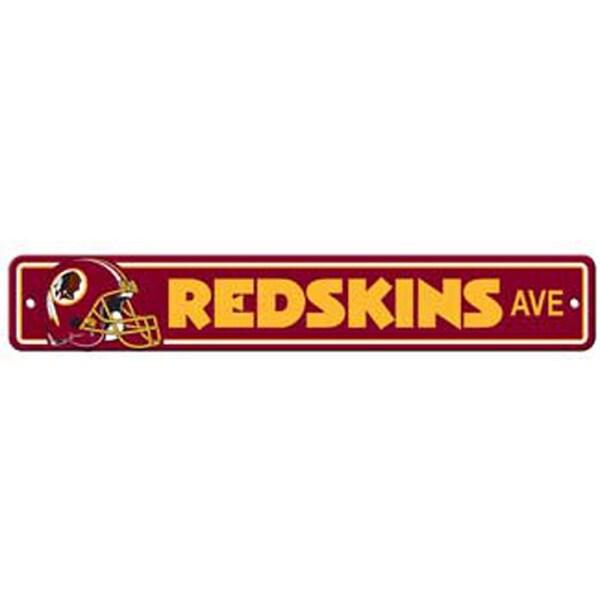 Washington Redskins Ave Street Sign
