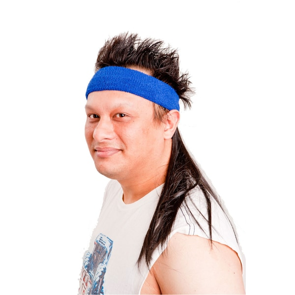 The Black Mamba Mullet Headband Combo Costume Accessory
