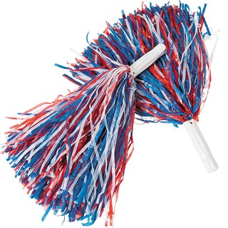 Red White and Blue Patriotic Pom-Poms Cheerleader Costume Accessory
