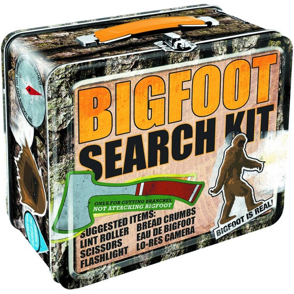Bigfoot Search Kit Tin Lunch Box