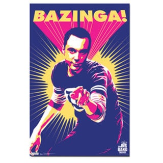 The Big Bang Theory Sheldon Bazinga Poster