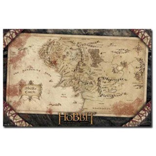 Lord of the Rings Middle Earth Map Poster