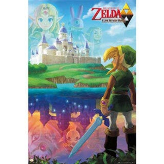 Zelda a Link Between Worlds Poster