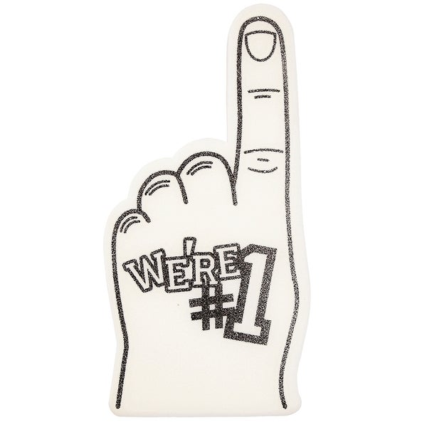 Miley Cyrus White Foam Finger Costume Accessory