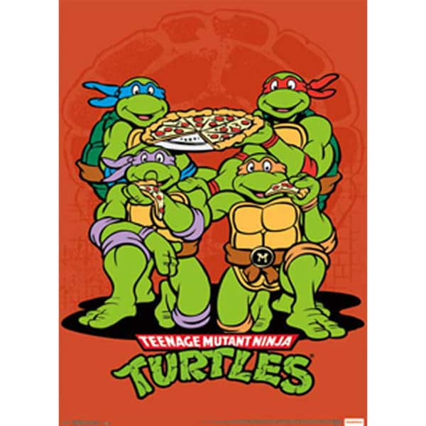 Teenage Mutant Ninja Turtles Pizza Poster