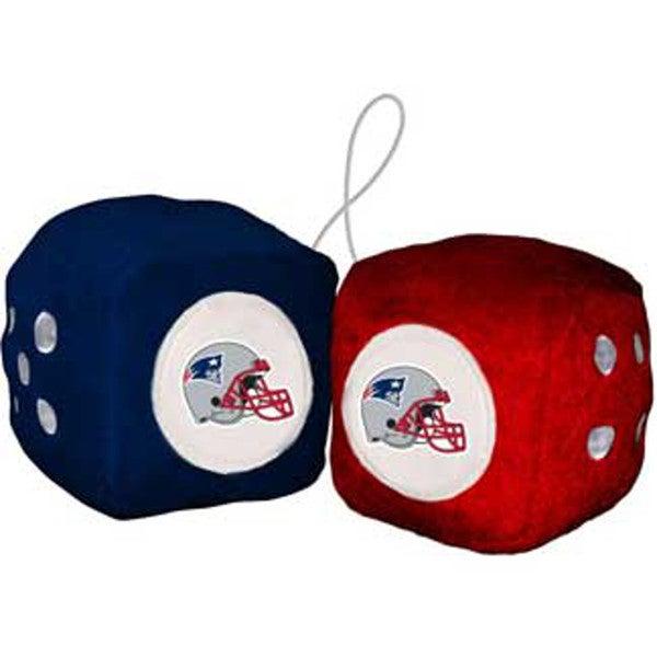 NFL New England Patriots Logo Fuzzy Dice