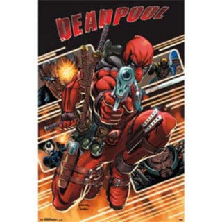 Marvel Deadpool Attack Poster