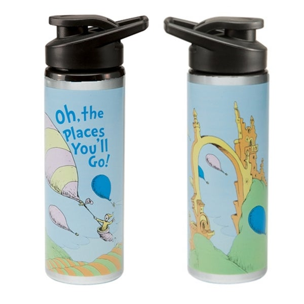 Oh The Places You'll Go 27 Oz. Steel Water Bottle Dr. Seuss Graduation