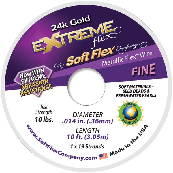 Extreme Flex Wire 19 Strand .014inX10' Gold