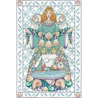 Seashell Angel Counted Cross Stitch Kit 14inX20in 14 Count