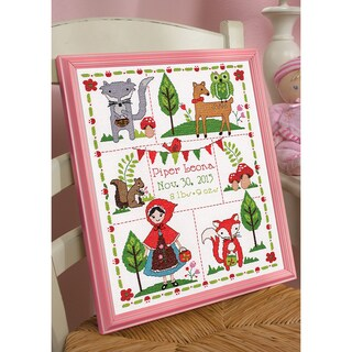 Little Red Riding Hood Birth Record Counted Cross Stitch Kit 10inX13in 14 Count