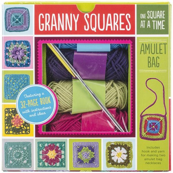 Granny Squares Amulet Bag Kit