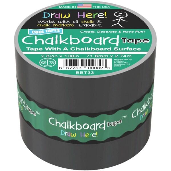 Chalkboard Tape 3inX3yd Black