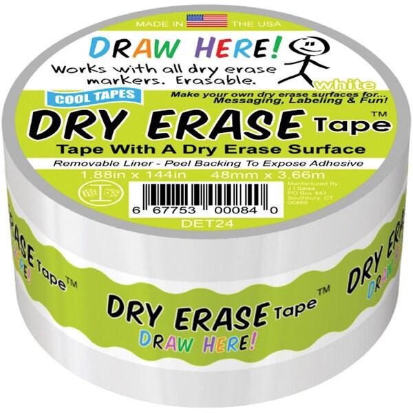 Dry Erase Tape 2inX4yd White