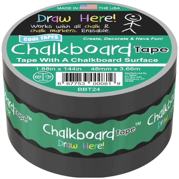 Chalkboard Tape 2inX4yd Black