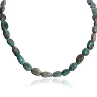 Journee Collection Handmade Sterling Silver Turquoise Stone Necklace