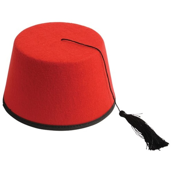 Red Fez 11th Doctor Who Eleventh Matt Smith Hat Dr. Hat Felt