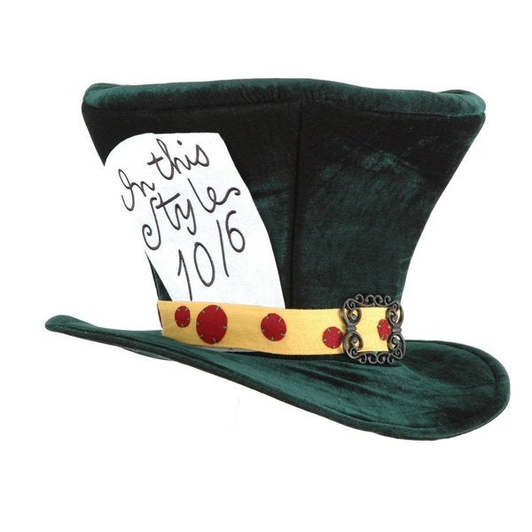 Alice in Wonderland The Mad Hatter Hat Costume Accessory