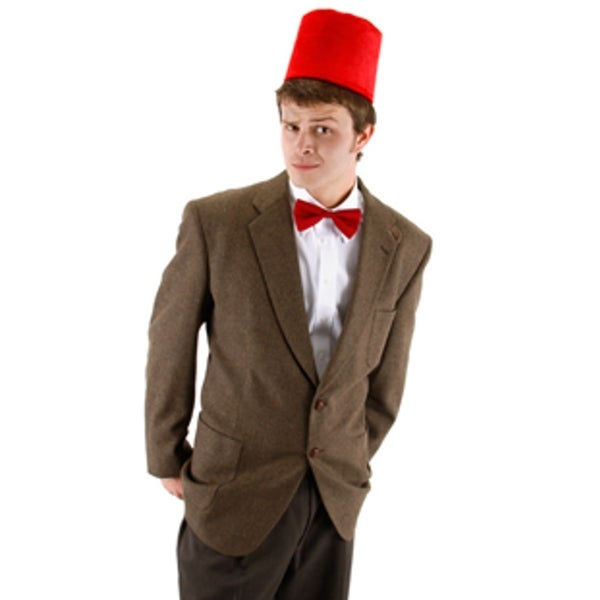 11th Doctor Who Fez and Bow Tie Kit Costume Matt Smith Adult Mens Dr. Hat