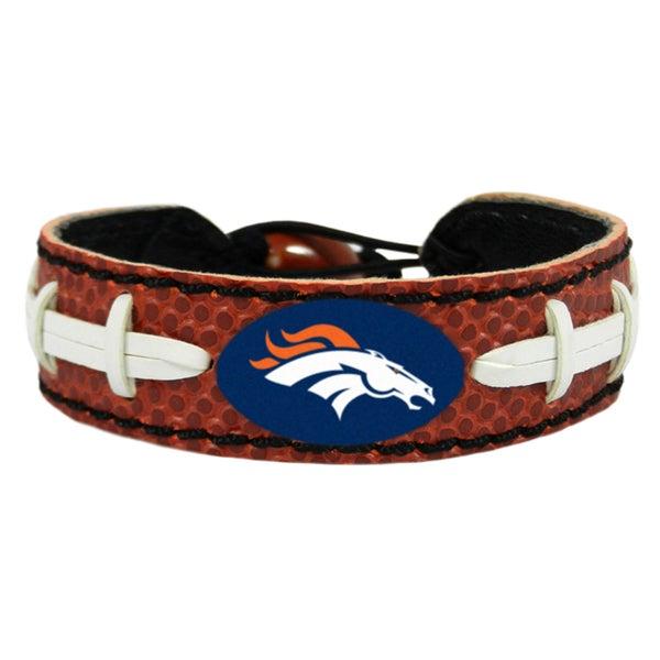 Denver Broncos Classic Football Bracelet Den Leather Bracelet