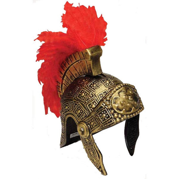 Plastic Gladiator Helmet with Feathers