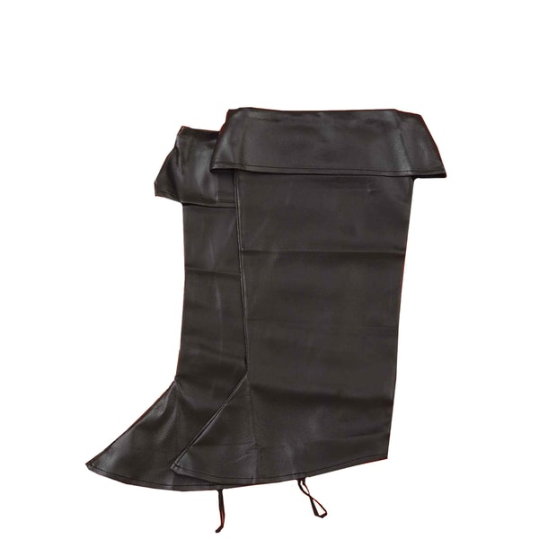 Black Pirate Boot Tops Costume Accessory