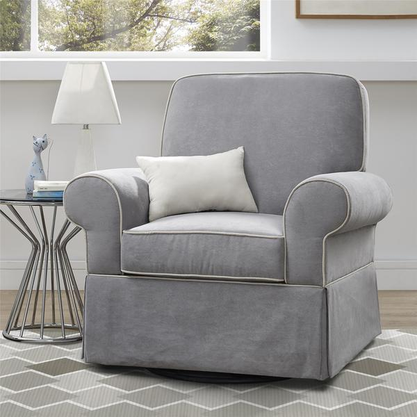 Baby Relax Taline Grey Cement Swivel Glider