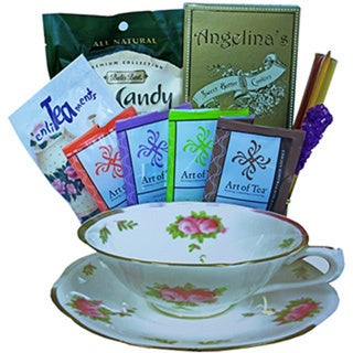 Tea Time Tea Cup Shaped Gift Basket 15685523