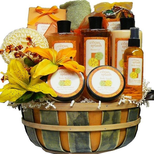 Citrus Splash Spa Bath and Body Gift Basket Set