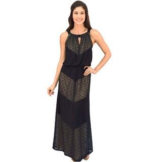 R&M Richards Meitered Maxi Dress