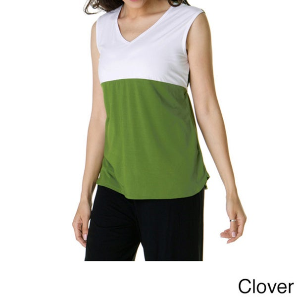 Bamboo Colorblock Sporty Top