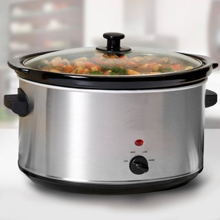 Stainless Steel 8.5-quart Slow Cooker