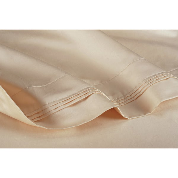 Luxor Treasures Egyptian Cotton 1000 Thread Count Solid Ivory 4-piece Cal-King Sheet Set (As Is Item)