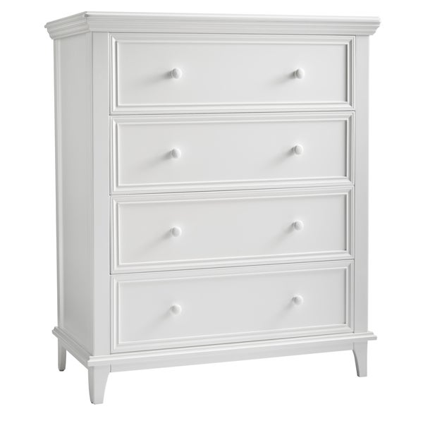 kolcraft 4 drawer transitional white dresser 17409375 shopping big discounts. Black Bedroom Furniture Sets. Home Design Ideas