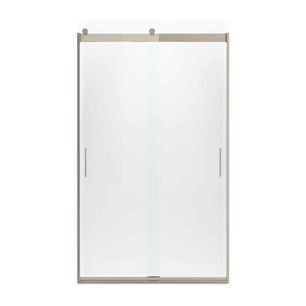 Levity Frameless Bypass Shower Door with Handle