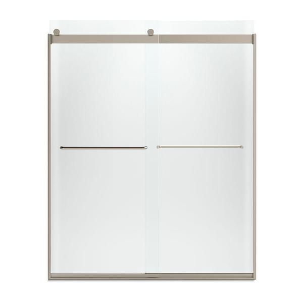 Levity 60-1/4 inches x 74 inches Frameless Bypass Shower Door with Towel Bar