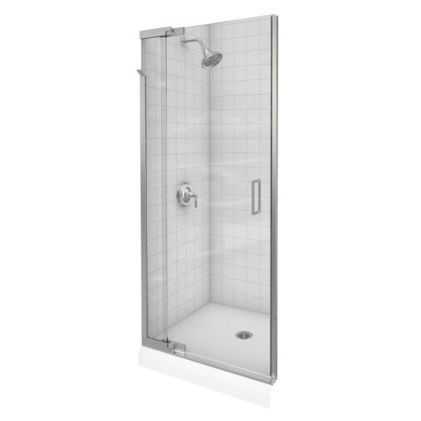 Purist 36 inches x 72 inches Frameless Pivot Shower Door with Clear Glass