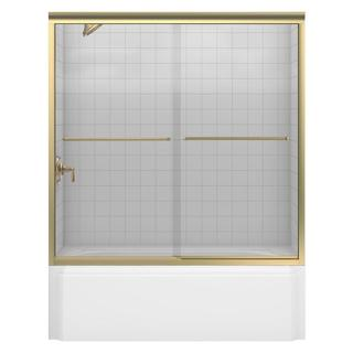 Fluence Frameless Bypass Tub/Shower Door with Clear Glass