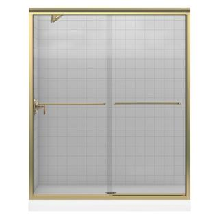 Kohler Fluence 59-5/8 inches x 55-3/4 inches Frameless Bypass Shower Door with Crystal Clear Glass