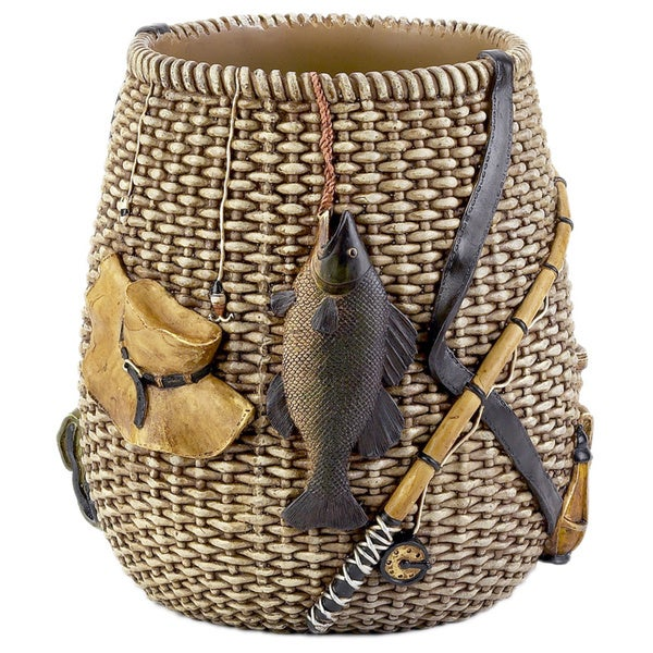 Rather Be Fishing Wastebasket