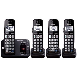 Panasonic KX-TG454SK DECT 6.0 Plus Link-to-cell Bluetooth Cordless Phone System (Refurbished)
