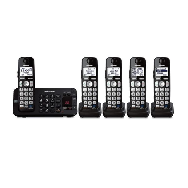 Panasonic KX-TG465SK DECT 6.0 Plus Link-to-cell Bluetooth Cordless Phone System (Refurbished)