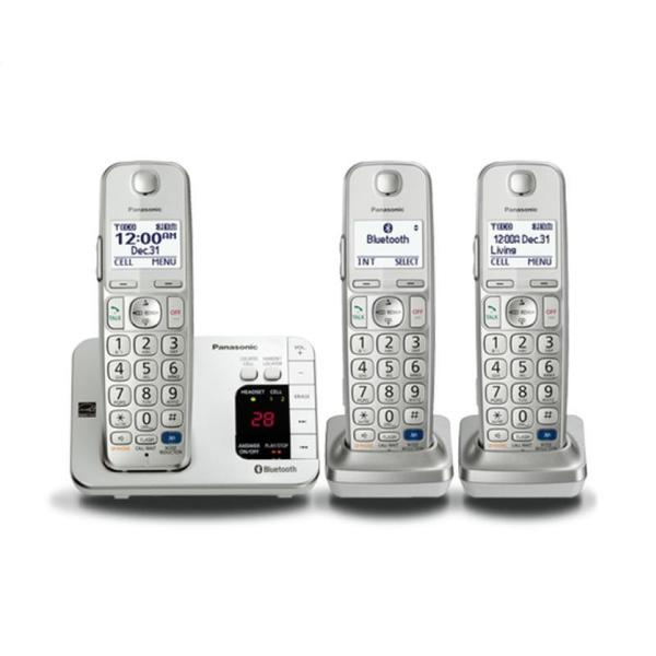 Panasonic KX-TGE263S Link2Cell Bluetooth Enabled Phone with Answering Machine and 3 Cordless Handsets (Refurbished)