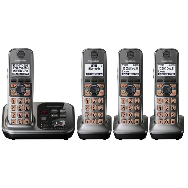 Panasonic KX-TG294SK DECT 6.0 Link-to-Cell via Bluetooth Cordless Phone with Answering System (Refurbished)