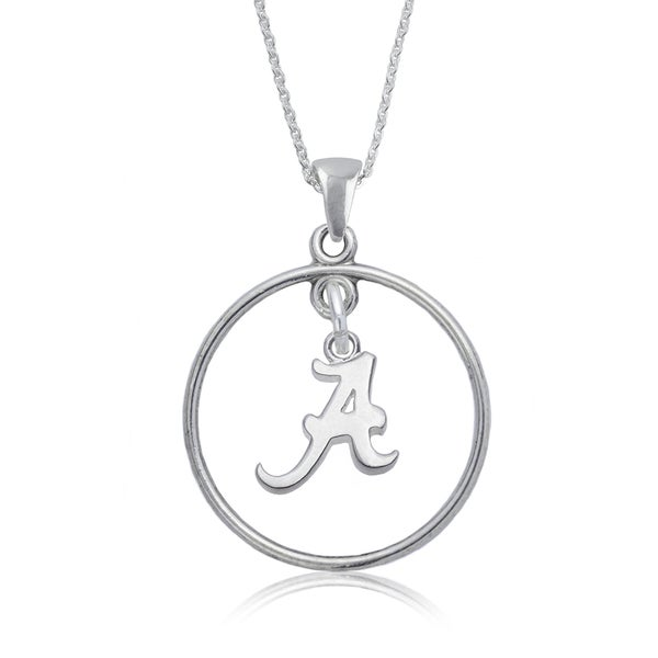 Alabama Sterling Silver Open Drop Necklace
