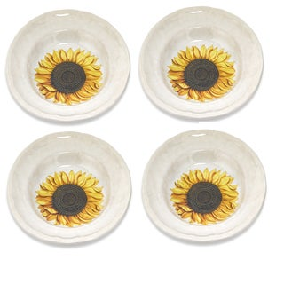 Lorren Home Trends Italian-made Sunflower Soup/ Cereal Bowl (Set of 4)