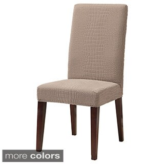 Sure Fit Stretch Crocodile Dining Room Chair Slipcover